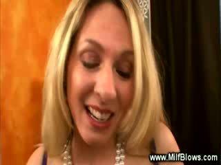 Blonde MILF is luring the cameraman