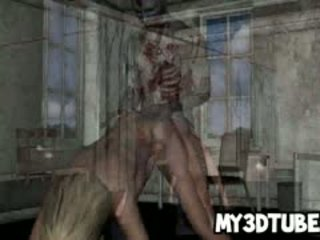 Hot 3D Cartoon Blonde Babe Gets Fucked By A Zombie