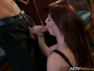 HDV Pass: Sexy redhead cougar audrey gets fucked hard
