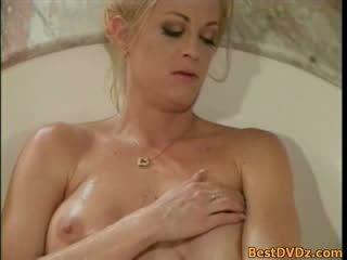 Hot busty lesbian girls in jacuzzi