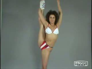 Desnuda aeróbic
