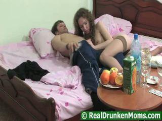 Hirsute Drunken Grandma Getting Pumped Raw