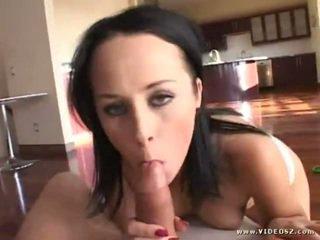 brunette, fresh big boobs real, blowjob ideal