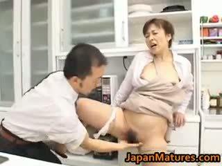 ruskeaverikkö, japanilainen, ryhmäseksiä, isot tissit