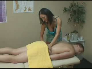 Massage parlour prostate handjob Video