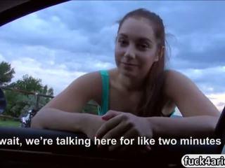 Horny teen hitchhiker fucked in public