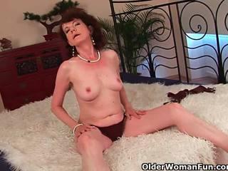 Suaugę mama su plaukuotas crotch ir armpits pakliuvom gilus