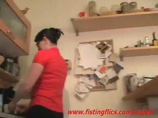 Amator nevasta anal fisted în the bucatarie