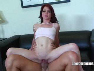 Cute redhead Jessi Palmer take some dick in her twat