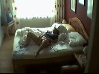 mastürbasyon, yatak odası, mum, yakalandı