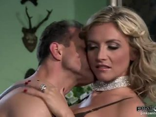 Hot blonde housewife is fucked hard by a gardener
