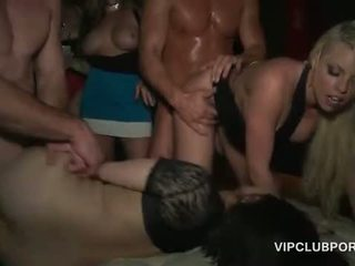 Massive gangbang in the VIP with smoking hot