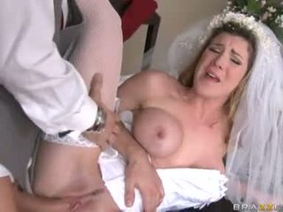 Breathtaking bride Kayla Paige acquires her taut wet pussy stuffed with stiff hard cock