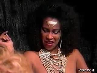 Ebony princess summons white slave to eat her