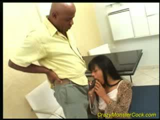 brunette Hooker sucks Huge Cock