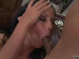Bewitching Playgirl Larissa Dee Eagerly Sips On A Gigantic Man Straw With PLeasure