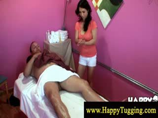 Kinky masseuse gets to the cock