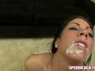 Ejaculações paramour eva ellington gets um loadful de jock batter em dela doce boca