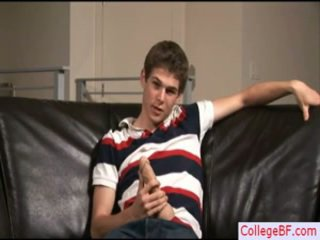 Sexy College Twink Wanking His Wang