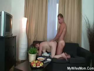 Mother In Law Gets Him To Fuck Her