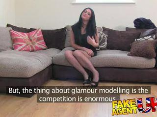 FakeAgentUK Face full of spunk for glamour girl wannabe