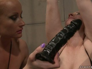 Katy Borman Sucking A Dildo Whil...