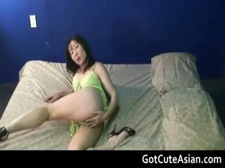 Shaved Asian Pussy Rubbing
