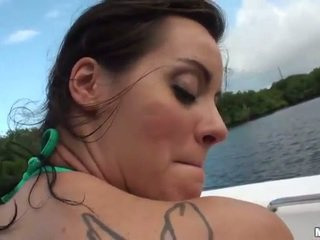 Kinky gf Mandy Haze ass fucked on a boat