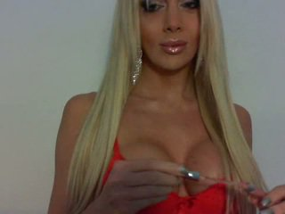Blonde TS doll Jelissa Jaconi posing