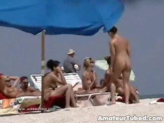 meer strand seks, een publiek vid, amateur actie