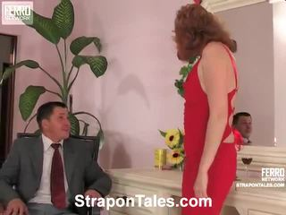 zien strap-on vid, nominale vrouwelijke dominantie, femdom