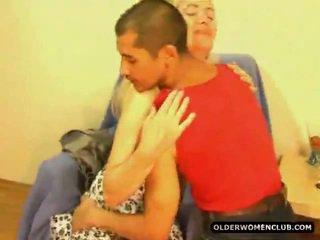 Senior donna tener porno