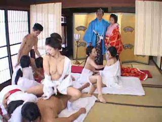 Japonesa orgia vídeo