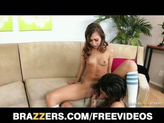 Two young cuties having lesbian fun
