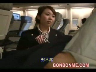 Stiuardesė šūdas su passenger
