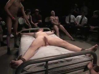 Bondaged babe gets didera