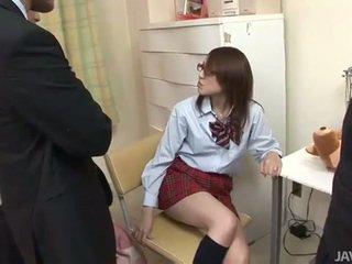Japonská dospívající rino mizusawa nadržený rána bouchání