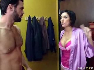 brunette video-, wit film, hardcore sex