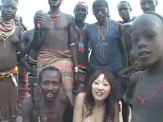 ви японски шега, момиче пълен, африкански най-добър