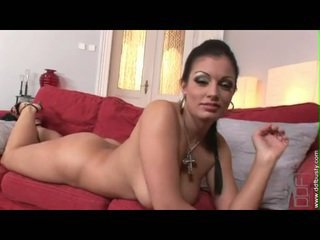 Wicked jana aria giovanni enjoys rubbing and playing her big buferlar