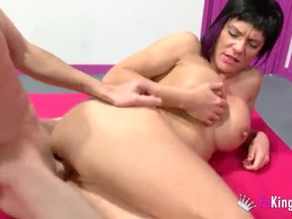 young, massage, mom