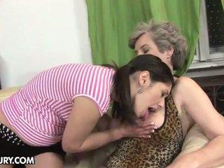 zoenen, zien gezicht zitten video-, oma porno