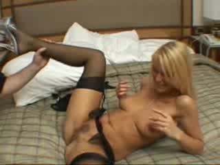 Sexy blonde girl gives head and get licked