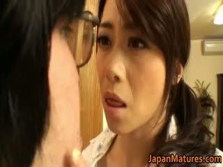 امرأة سمراء, اليابانية, كبير الثدي, ناضج