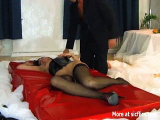 Domina takes a brutal fisting till she orgasms