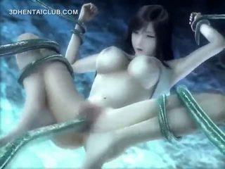 अनिमे hottie गड़बड़ अंडरवॉटर द्वारा लंबे समय तक tentacles