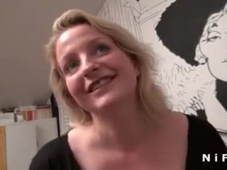Big boobed French MILF anal fucked