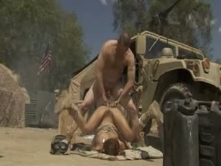 Excited jadra holly receives fucked keras dan cummed oleh an tentera soldier