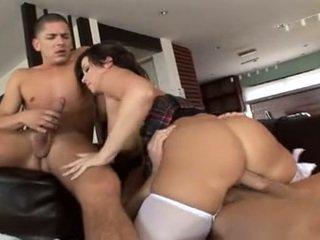 nominale orale seks neuken, dubbele penetratie porno, heet tieners film