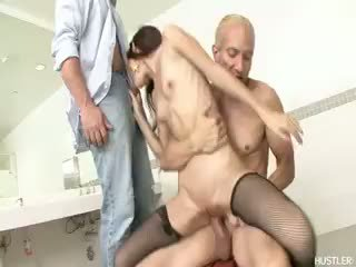 great brunette fresh, blowjob, more threesome most